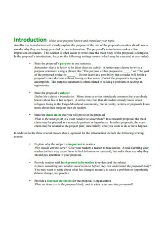 Introductory statement Grant Outline