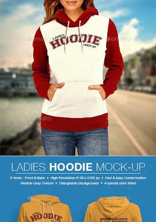 Ladies Hoodie Mockup