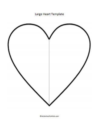 Large Heart Template