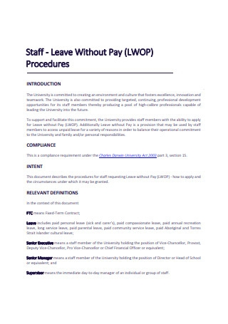 Leave Without Pay
