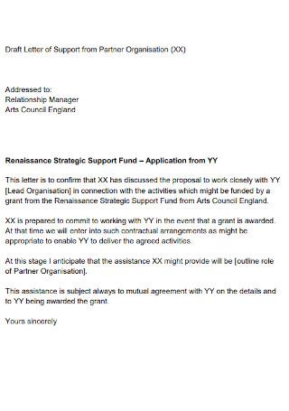 Letter of Support from Partner Organisation