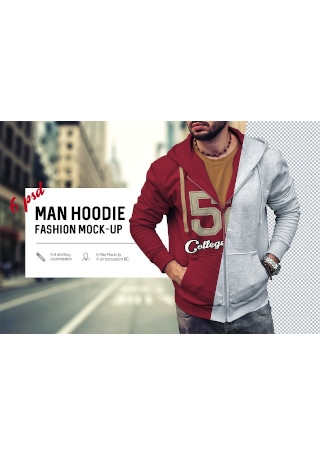 Man Hoodie Fashion Mock Up