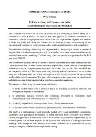 Market Study Press Release