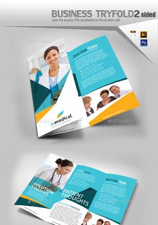 Medical Three Fold Pamphlet Design