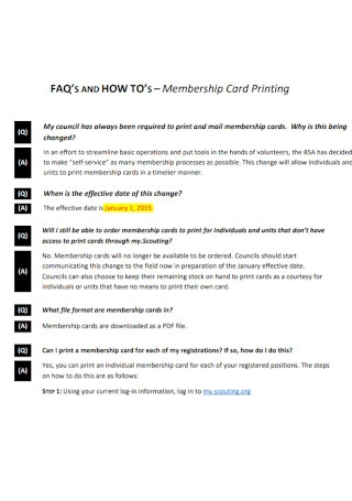 Membership Card Printing Template