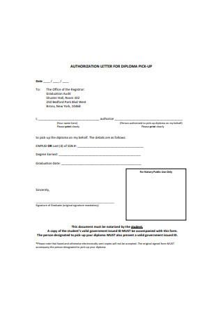 Notarized Authorization Letter Example