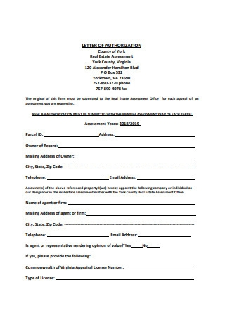Notarized Letter of Authorization Example