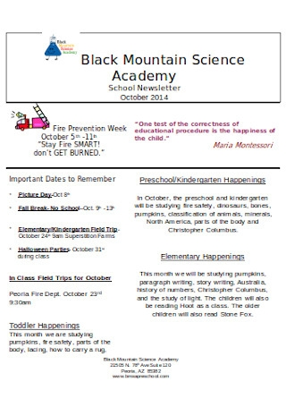 Our Community School Newsletter