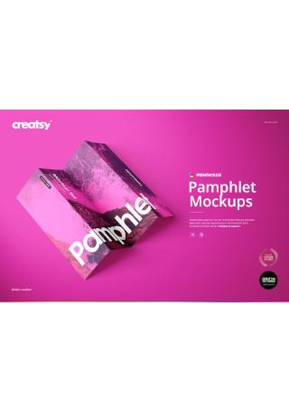Pamphlet Mockup Set