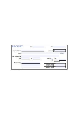 Payroll Cash Receipt