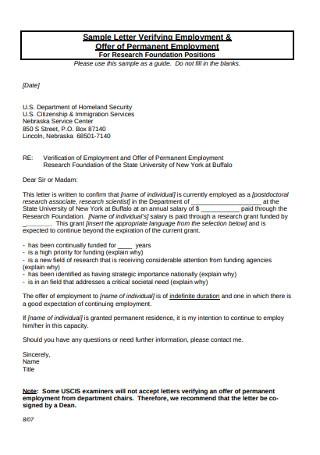 Permanent Employment Letter
