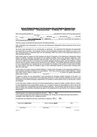 Permission Slip for Students