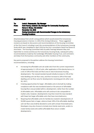 Petition Cover Letter Format