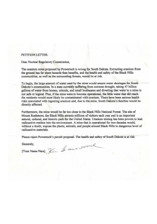 Petition Letter Sample