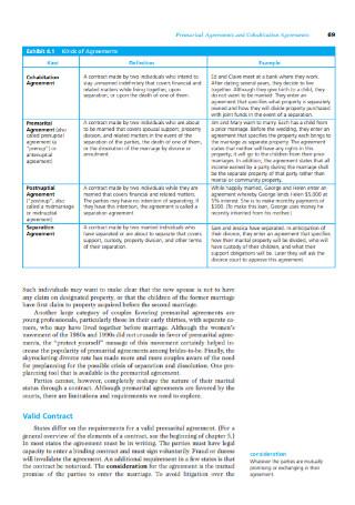 Premarital Agreements and Cohabitation Agreements