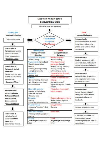 Primary School Behavior Flow Chart