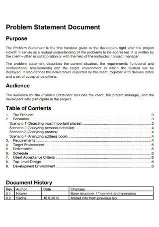 Problem Statement Document