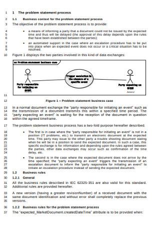 Problem Statement Process Template