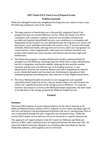 Problem Statement Proposal