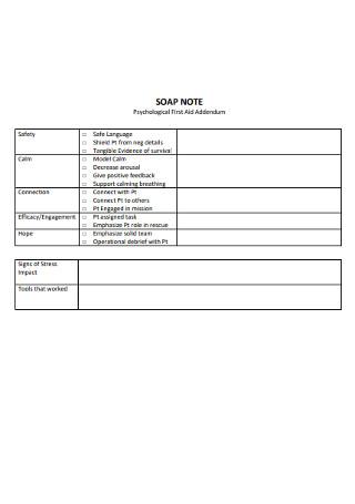 Psychological SOAP Notes