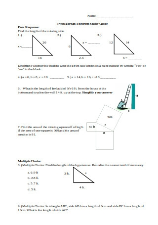 Pythagorean Theorem Study Guide