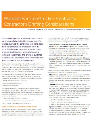 Remodling Constractors Contracts