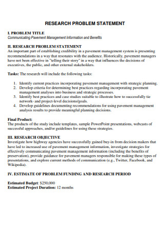 Research Problem Statement Template