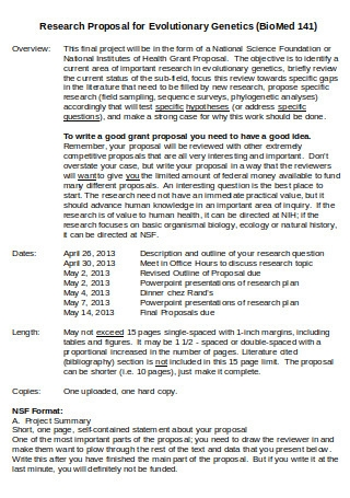 Research Proposal for Evolutionary Genetics
