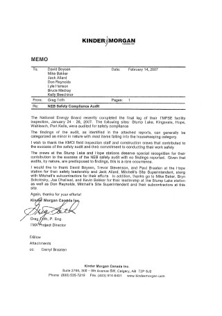 Safety Recognition Letter