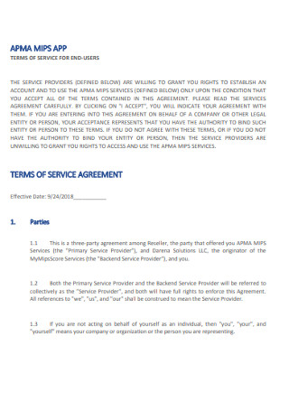 Sample Apps Terms of Service Agreement