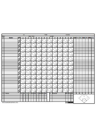 Sample Baseball Scoresheet Template