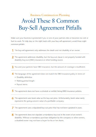 Sample Common Buy Sell Agreement