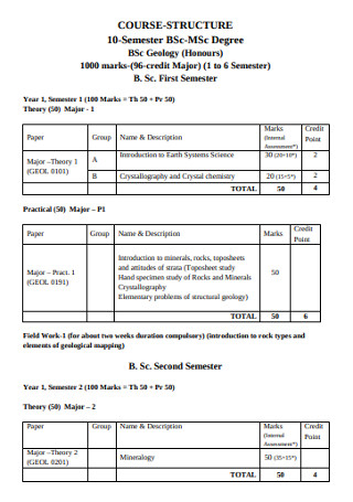 Sample Degree Semister Syllabus