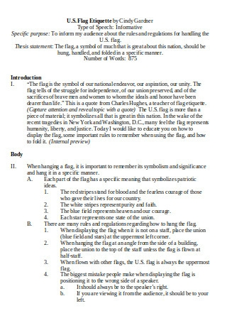 Sample Informative Outline