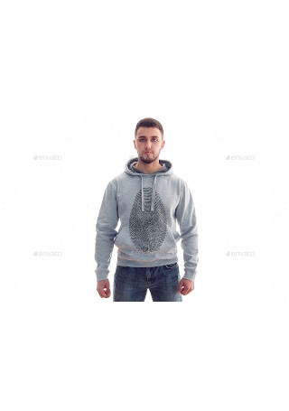 Sample Mens Hoodie Mock Up