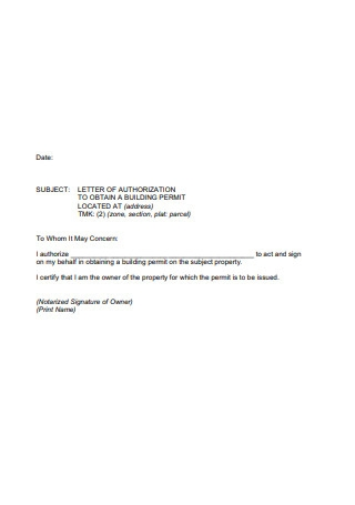 Sample Notarized Letter of Authorization