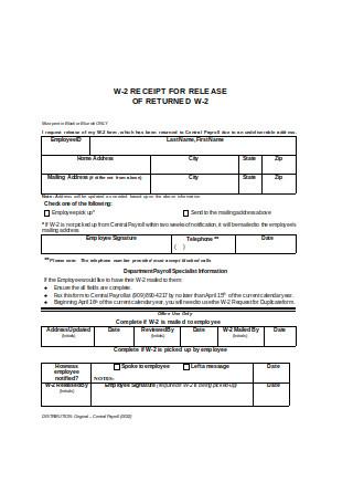 Sample Payroll Receipt Format