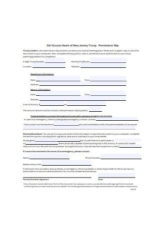 Sample Permission Slip Format