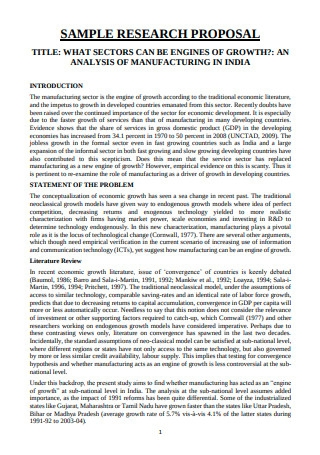 Sample Research Proposal in PDF