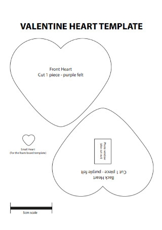 Sample Valentine Heart Template
