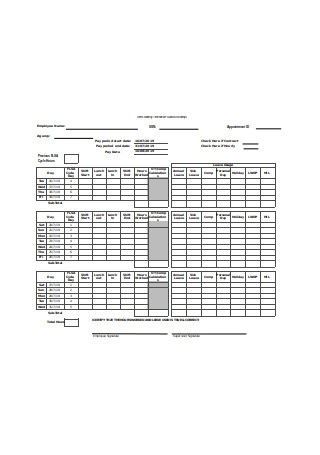 Semi Monthly Timesheet Format