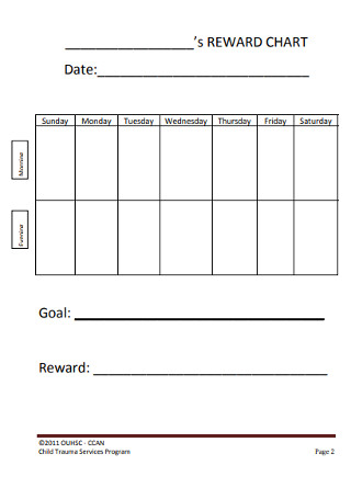 Simple Behavior Chart Template