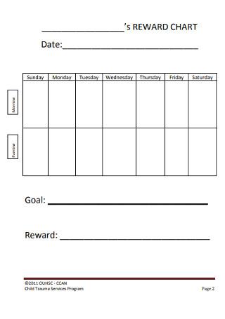 Simple Behavior Chart Template
