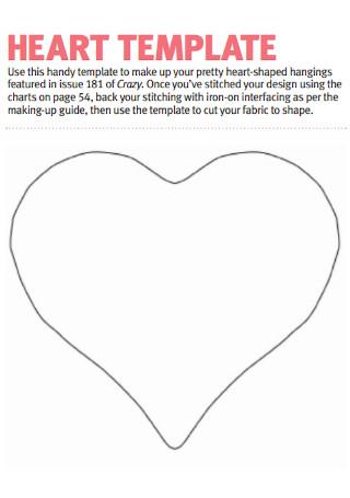 Simple Heart Templates