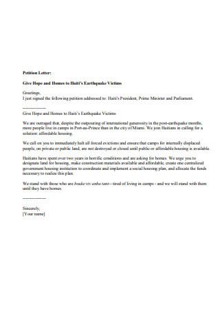 Simple Petition Letter