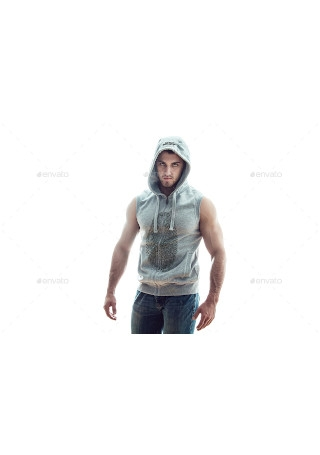 Sleeveless Hoodie Mock Up