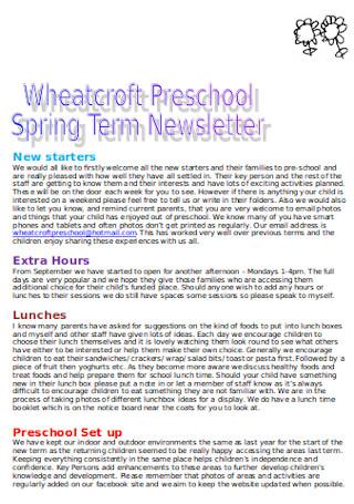 Spring Term Newsletter