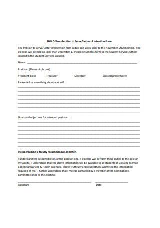 Standard Petition Letter Format