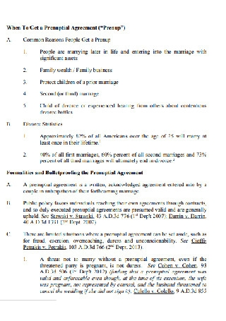 Standard Prenuptial Agreement Template