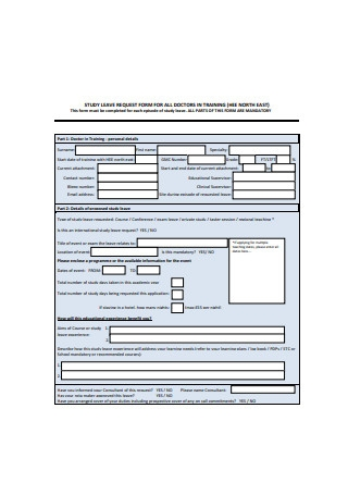 Study Leave Request Form